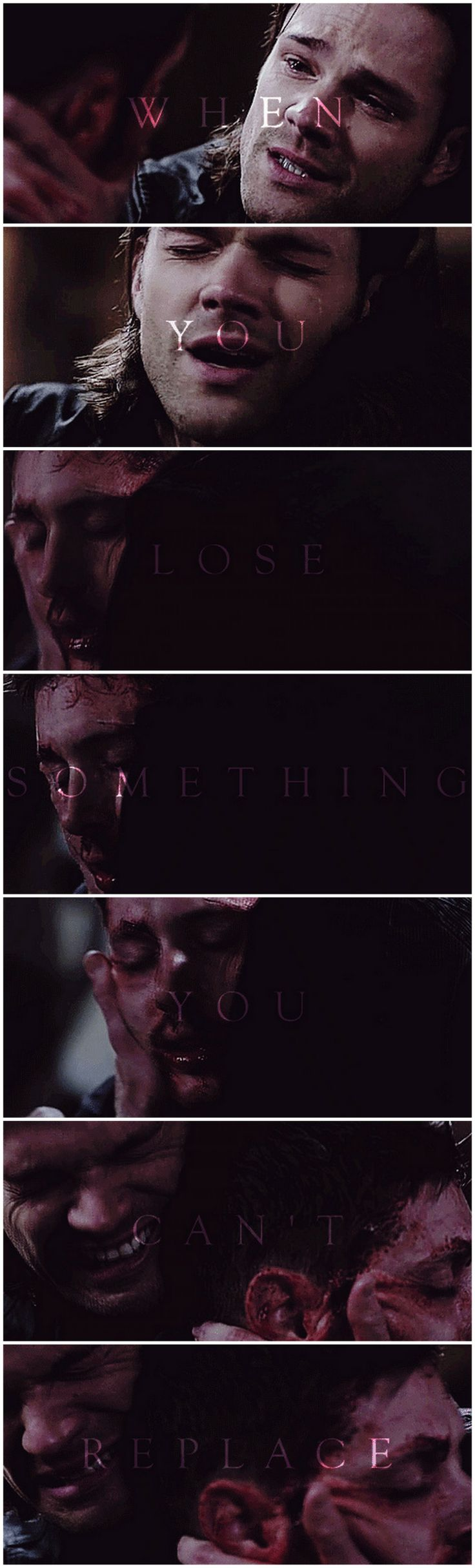 Lights will guide you home, and ignite your bones, and I will try to fix you - 9x23 Do You Believe In Miracles [gifset]