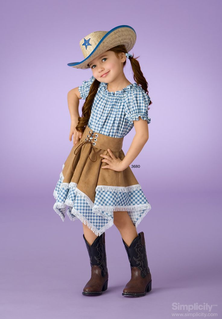 Adorable and fashionable cowgirl costume for children! #SimplicityPatterns