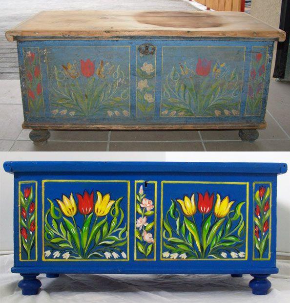 Hungarian painted furniture / Tulipános láda
