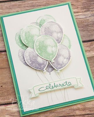 Stampin' Up! UK Feeling Crafty - Bekka Prideaux Stampin' Up! UK Independent Demonstrator: Bunch of Spring Balloons with Balloon Builder Stamp Set from Stampin' Up! UK