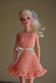 crocheted dress for barbie