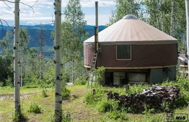 This is an off-the-grid capable 500 sq. ft. yurt on 31 acres in Clark, CO that's listed for sale on Estately for $414,000. Enjoy!