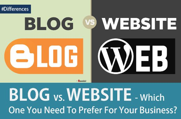 IMP Differences Between A Blog & A Website: Which one is Better for work online? - A quick comparison on Blog vs. Website describes how the website differs from blog required for business, to make money online, for advertisement and promotion. Read how to plan for a blog & the website and which one you should prefer to get more.