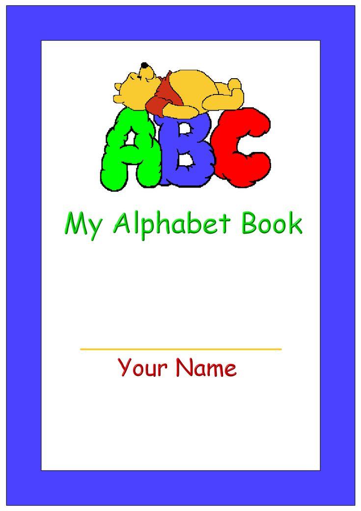 Printable My Alphabet Book Cover  Alphabet book, Preschool alphabet book, Book cover page