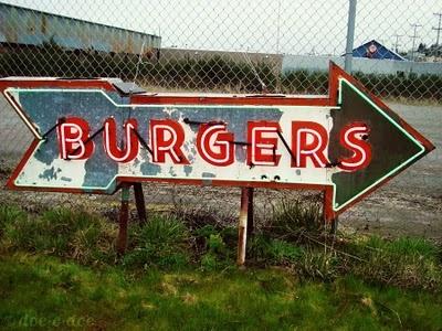 Mmmmm . . . burgers ✮ Vintage Sign