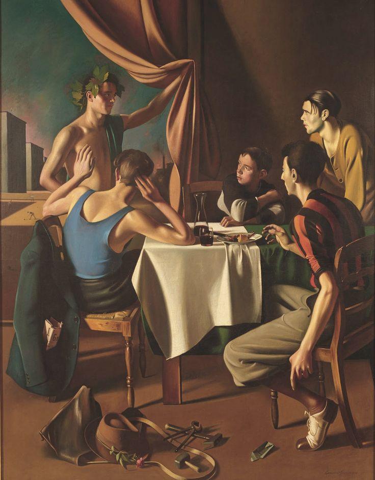 Gregorio Sciltian, Bacco all'osteria, 1936