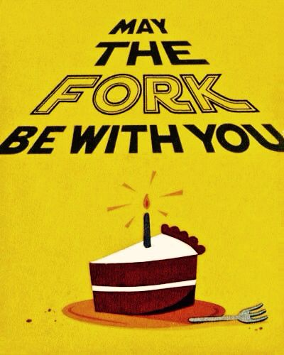 Happy birthday card for Star Wars fans