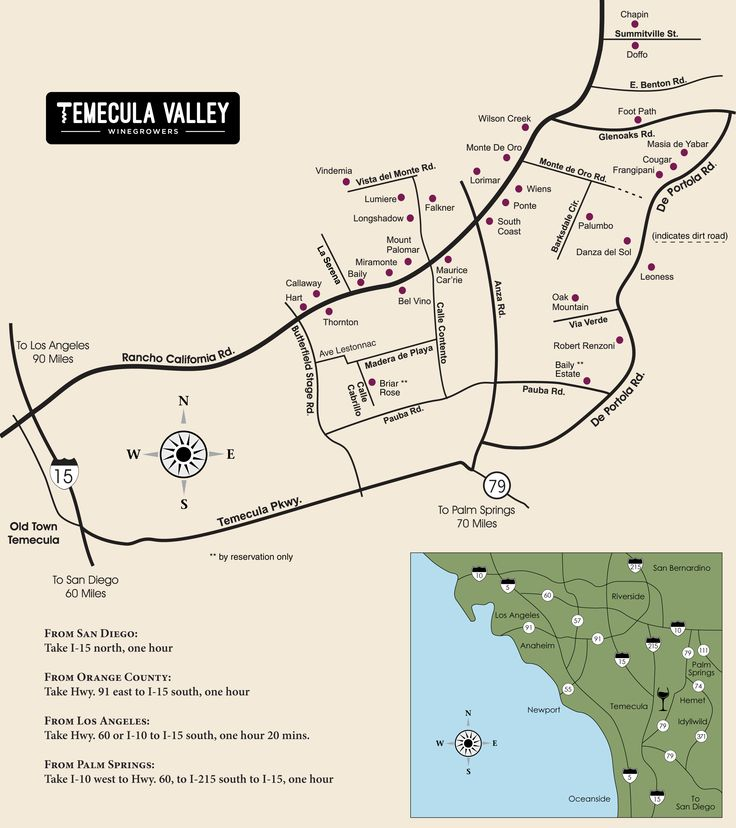 Temecula Valley Winegrowers Association - Winery Map