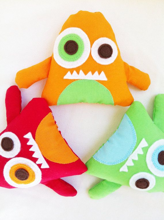 Halloween Pattern - Toy Sewing Pattern - Mini Monsters - Party Favors/Ornaments/Baby Mobile - PDF