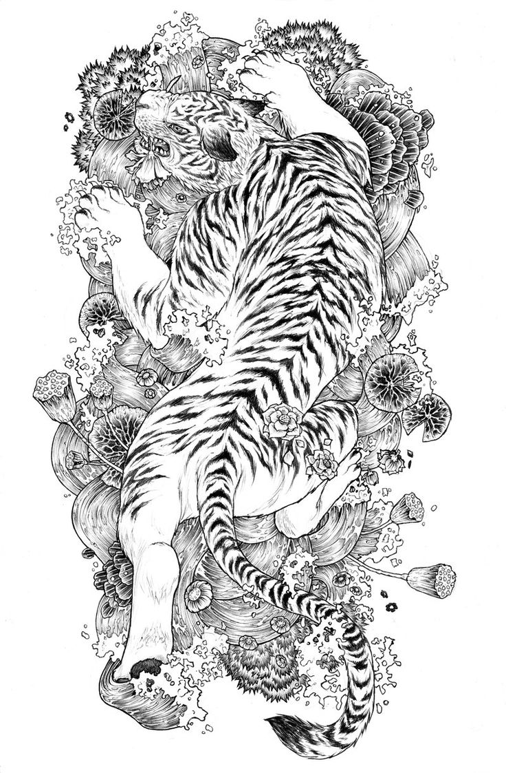 50 meaningful tattoo ideas art and design - Full Back Tattoo Design Of A Bengal White Tiger It S Actually A Design I Wanted For A Character So It S Already Taken Sorry White Tiger Tattoo Lines