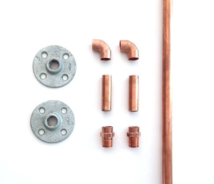 Izabella DIY Copper Pipe Curtain Rods [Obsessively careful instructions including, heaven forfend, painting them! I would polish these until they gleamed so bright they could be used as nightlights — 13-05-14]