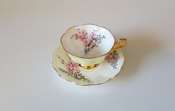 Pixie Pink Royal Albert Tea Cup And Saucer Set in by RetroEnvy21