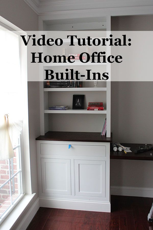 in this post youll see a video on making built in cabinets build office video