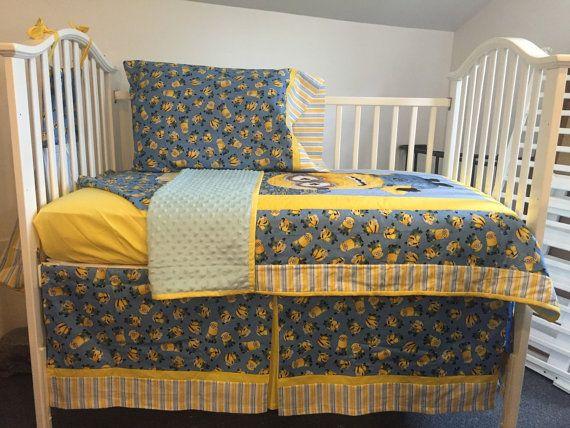 Minion Despicable Me Boutique Crib Nursery by littleangelslinens