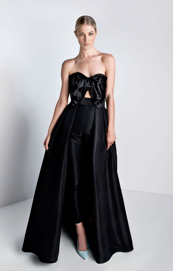 Strapless Bow Jumpsuit with Convertible Skirt | Sewing ...