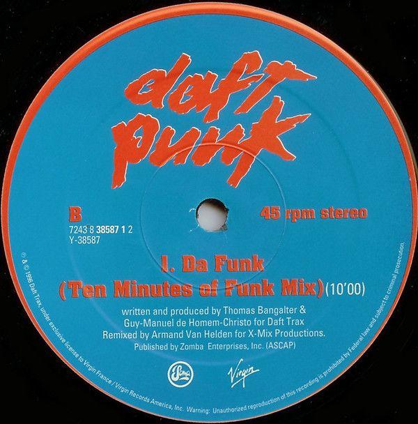 Daft Punk Da Funk Vinyl 12 45 Rpm Discogs Daft Punk Funk Armand Van Helden