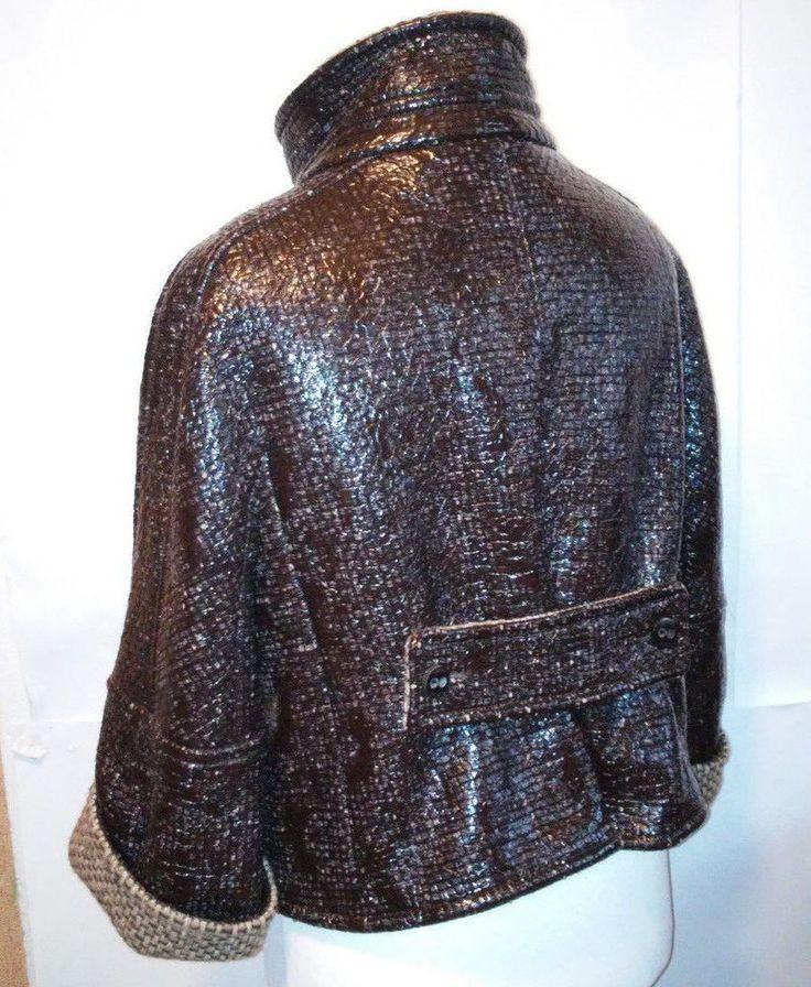 ESCADA Brown  unusual style pouliretan 7% cupro 85% Jacket size 42 #ESCADA #BasicCoat