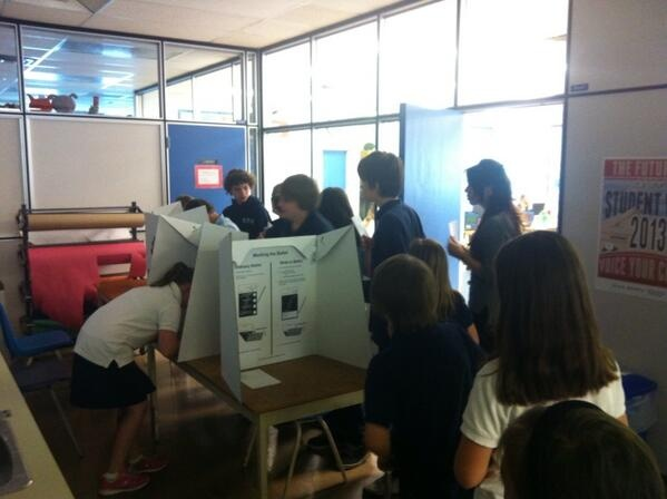 Student Vote at Oyama Traditional School.
