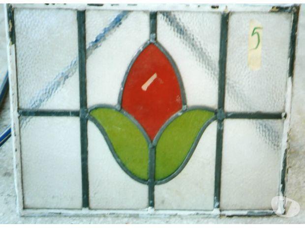 Vintage Vetri Artistici Originali Liberty anni 1930-35 Siena