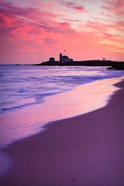 Watch Hill Lighthouse at Sunset - Westerly, Rhode Island, US