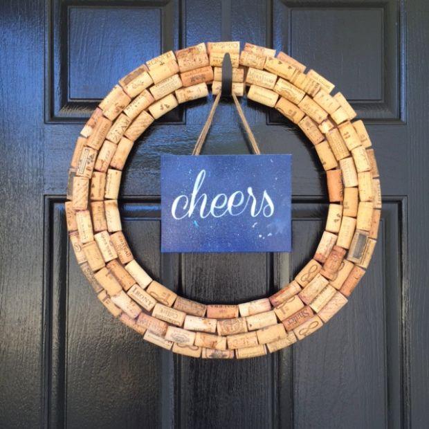 Make your own wine cork wreath!