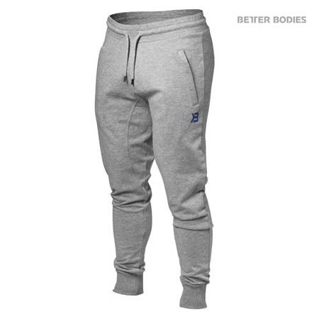 BETTER BODIES MEN'S TAPERED JOGGERS SWEAT PANT These Better Bodies Tapered Sweats are great for a jog or a lift session. The comfortable drawstring waistband and pockets for your phone and keys while