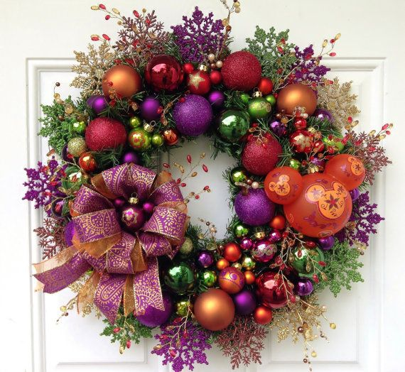Disney Mickey Mouse Christmas Wreath by SparkleForYourCastle