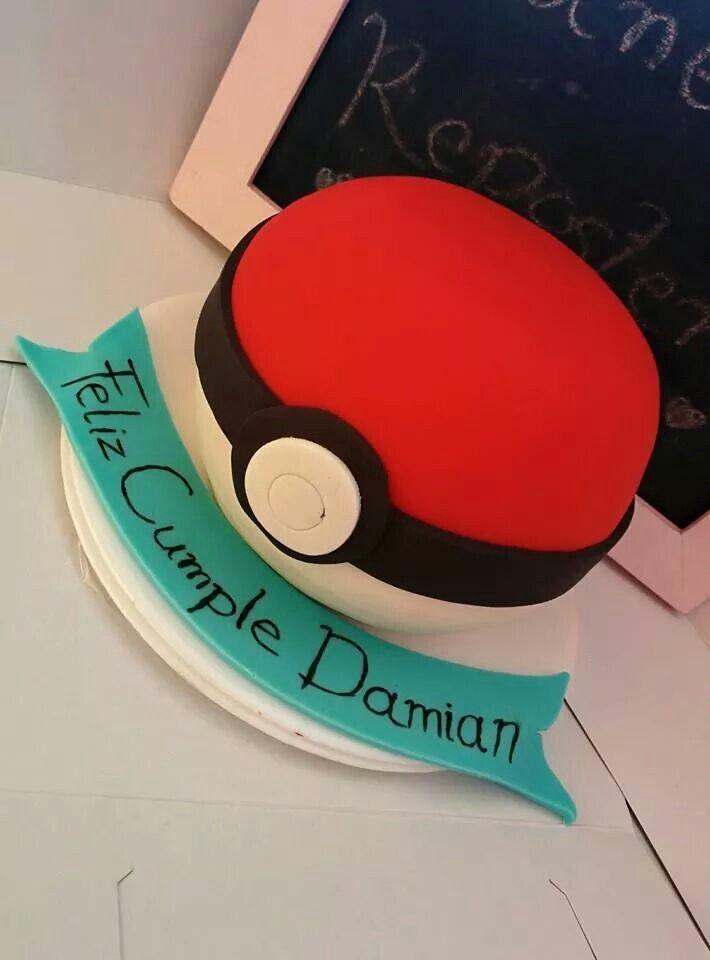 Una #torta personalizada en forma de #pokebola 3D!