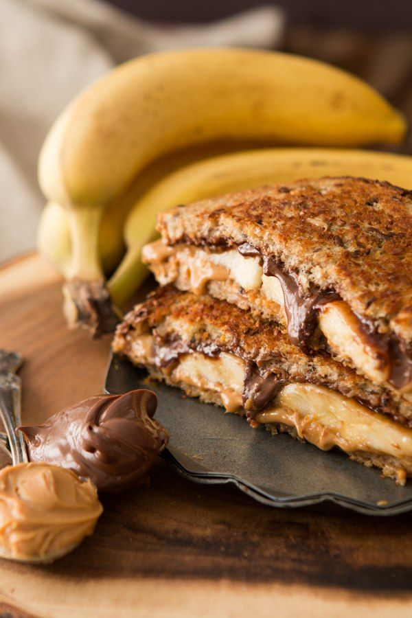 grilled peanut butter nutella and banana sandwich Really nice recipes. Every hour. Show me what you cooked!
