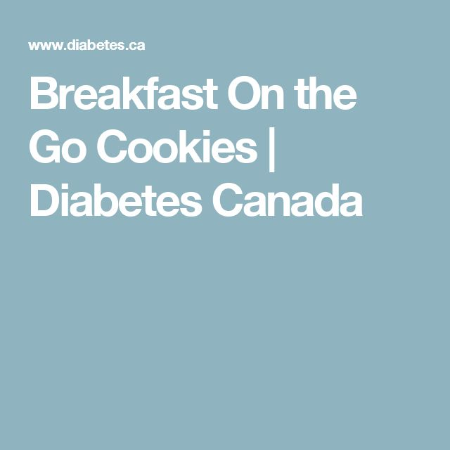 Breakfast On the Go Cookies | Diabetes Canada