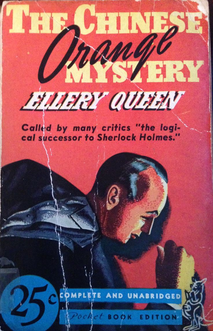 The Chinese Orange Mystery, Ellery Queen, Pocket Book Edition 1940