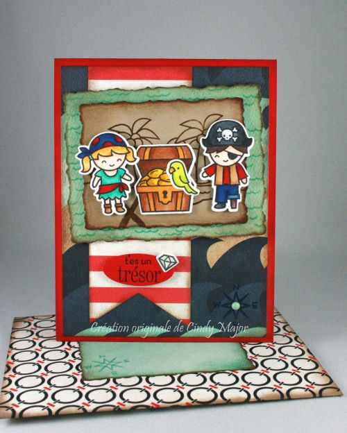 Ahoy Matey stamps and dies from Lawn Fawn + Ahoy There papers from Carta Bella - Designed by Cindy Major
