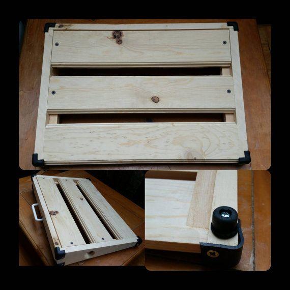 New Sleeker Design Guitar Effect pedal board by SocalWoodworksShop