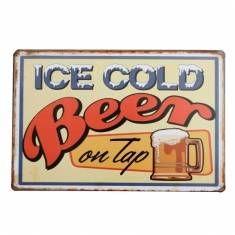 #Banggood Лед холодное пиво олова знак Ретро металлический налет плакат бар паб дома стены декор (990096) #SuperDeals