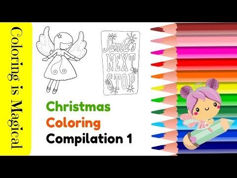 how to trace and color christmas things compilation coloring pages