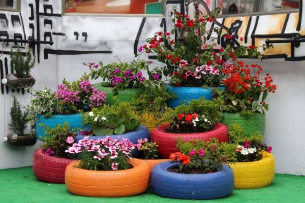 23 best images about decoraci n jard n on pinterest for Decoracion de jardin con neumaticos