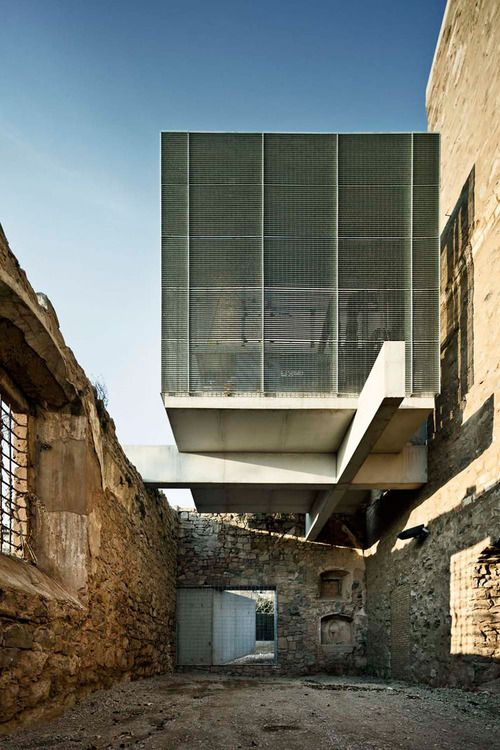 Wow! Concrete vs. ruins.