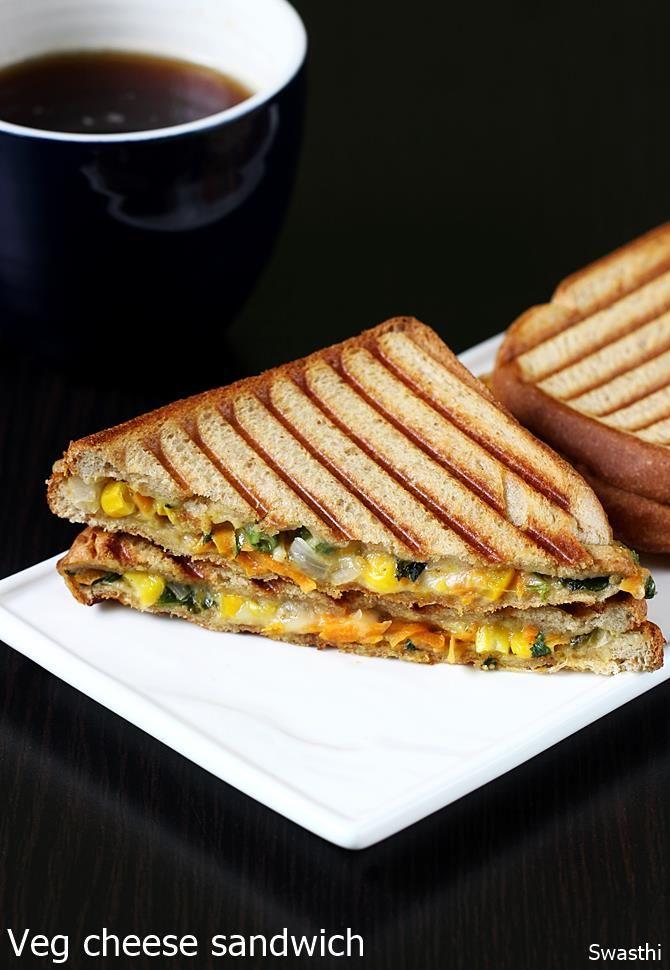 Masala cheese sandwich - toasted