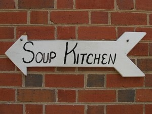 Volunteer your time at a soup kitchen in your community.
