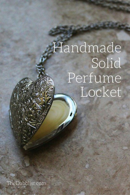 Make your own handmade solid perfume locket! It's easy, fun, and beautiful--and you'll have a one-of-a-kind scent to take with you everywhere you go. {TheDabblist.com}