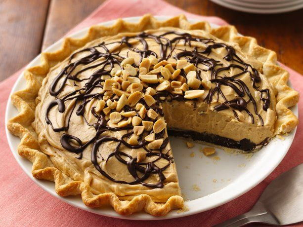 Decadent Chocolate-Peanut Butter Truffle Pie: Brownies Recipes, Cream Pies, Chocolates Peanut Butter, Pies Recipes, Chocolates Cups, Chocolatepeanut Butter, Peanut Butter Truffles, Truffles Pies, Chocolate Peanut Butter