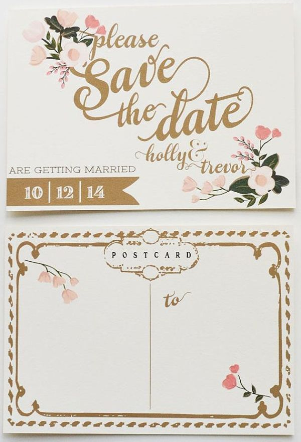 Take a look at our ten unique ideas to save the date in style | Bridal Musings Wedding Blog | Bridal Musings