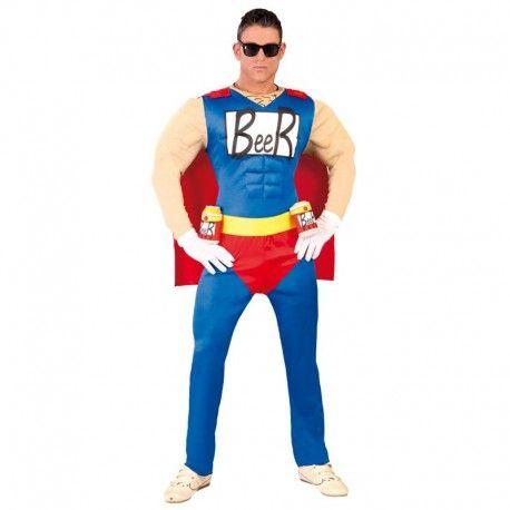 Disfraces Personajes hombre   Disfraz de beerman. El auténtico super héroe de la cerveza. Compuesto de traje musculoso, capa y cinturón para las cervezas. Talla M/L. 21,95€ #beerman #hombrecerveza #hombredelacerveza #disfrazbeerman #disfraz #superheroe #disfrazpersonaje #disfraces