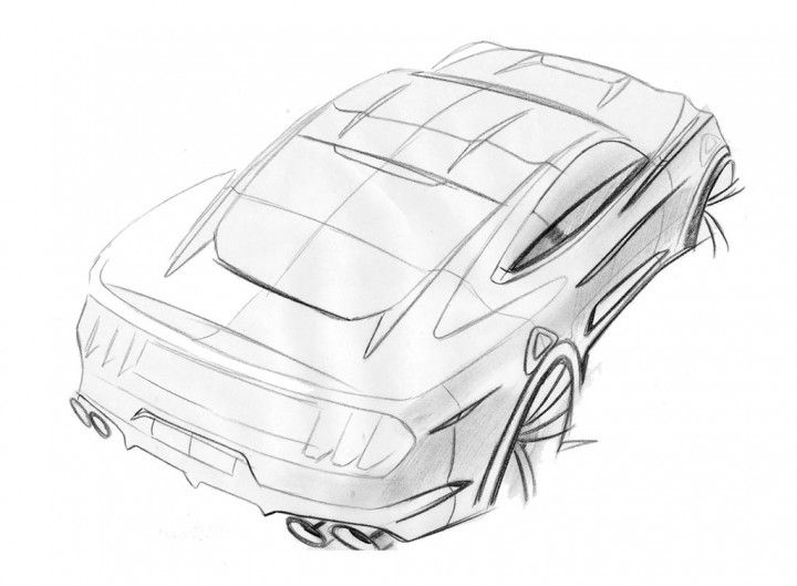 Ford Mustang Design Sketch by Kemal Curić