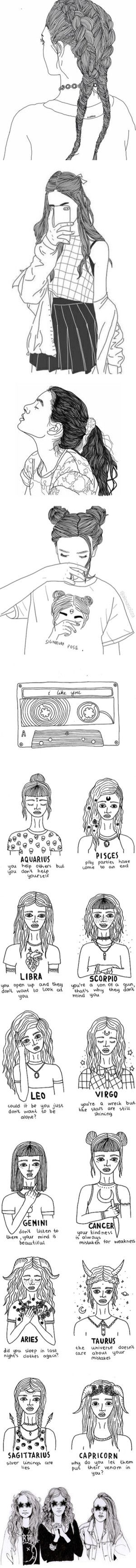 """Black and White Doodles/Sketches - Pt. 1"" by guedesss ❤ liked on Polyvore"