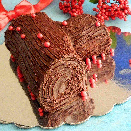 Yule Log Cake | Bûche de Noël