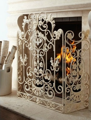 love this fireplace gate-but in black