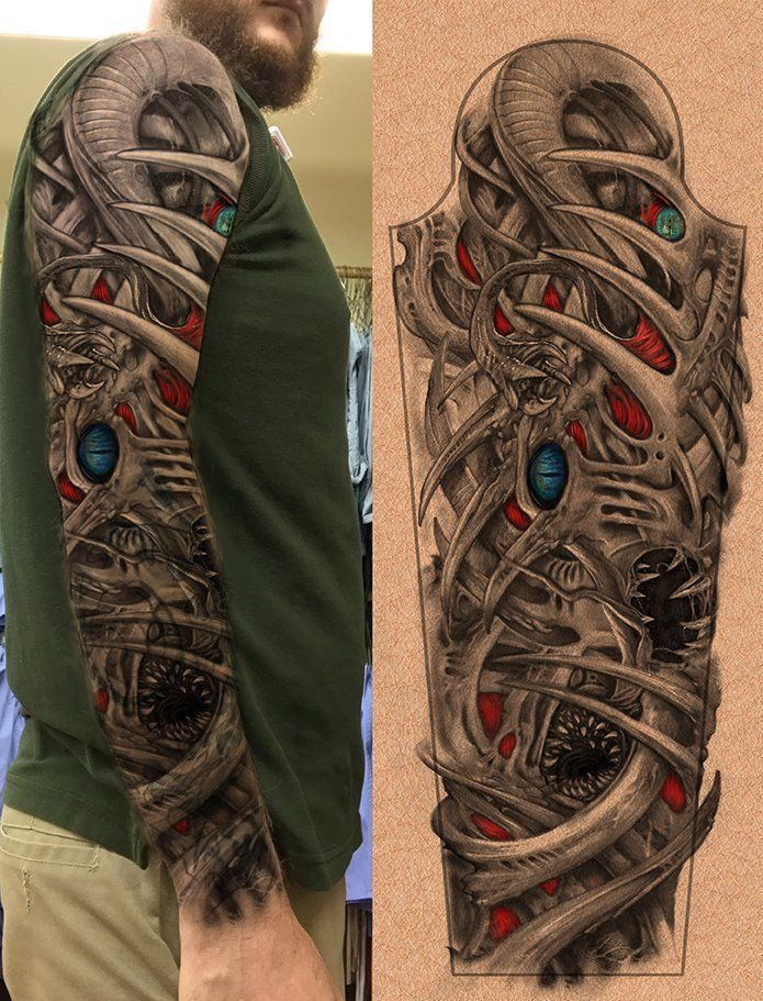 Biomechanical Tattoo Sleeve Gears Biomechanical Tattoo Biomechanical Tattoo Design Sleeve Tattoos