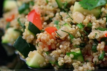 quinoa salad... My mom makes a different version, and it's yum! I'll ...