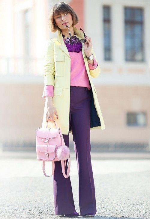 расклешенные брюки, стиль 70-х, стильный образ на каждый день, модные тренды 2015 года, уличная мода весна лето, street style, MsKnitwear, Knitwear (фото 11)